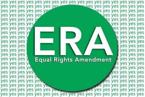 A postcard designed pro-bono by artist Krista Niles features the ERA logo.